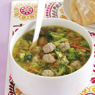 Spring Vegetable and Meatball Soup.