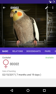 My Birds - Aviary Manager - náhled