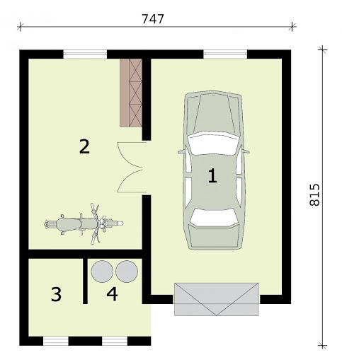 G311 - Rzut garażu