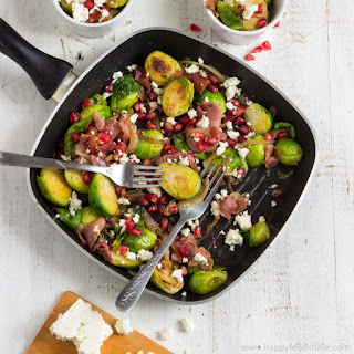 Roasted Brussels Sprouts Salad with Prosciutto.