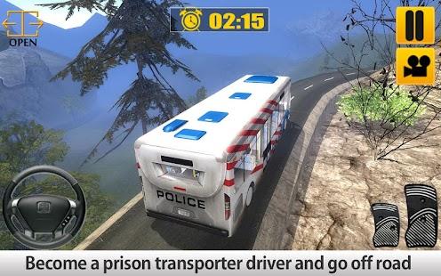 Policejní řidič autobusu do - náhled