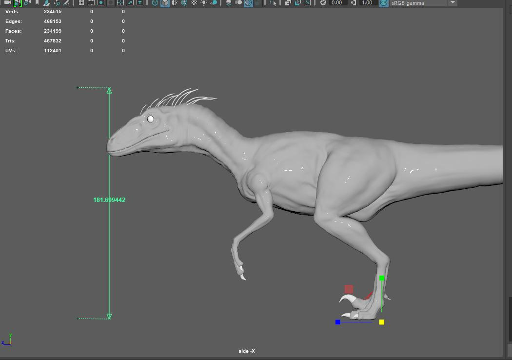 How To Model and Texture a Raptor