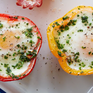 Eggs in Pepper Cups