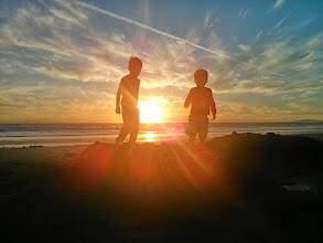 Photo: Clark and Finn Sunset at 34th Street