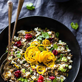 Crock Pot Autumn Quinoa Pilaf {Gluten Free, Vegetarian}.