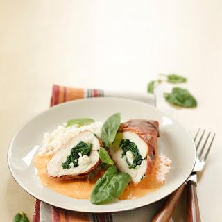 Gefüllte Hühnerbrust mit Spinat und Mozzarella