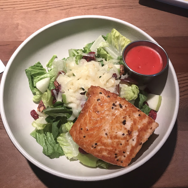Waldorf salad with the gluten free salad dressing