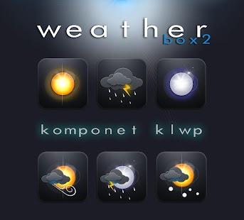 Komponent Weather Box2 klwp - náhled