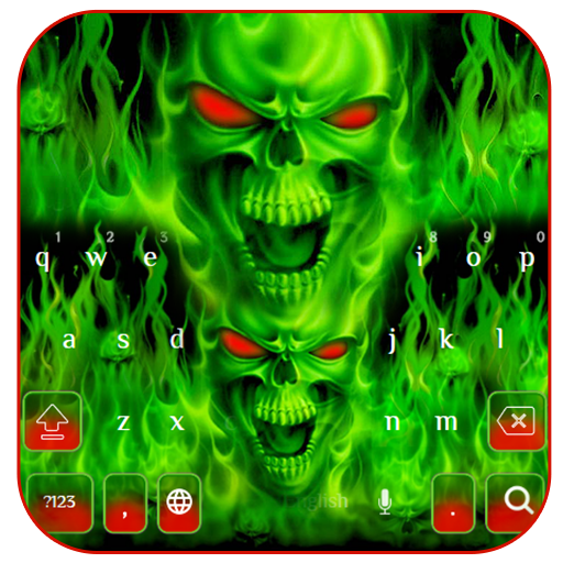 Green fire skeleton (app)