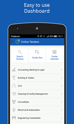 Online Tenders - screenshot