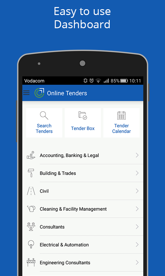 Online Tenders- screenshot