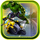 Super Hero Hulk Racing