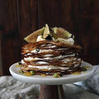 Fig & Mascarpone Crepe Cake