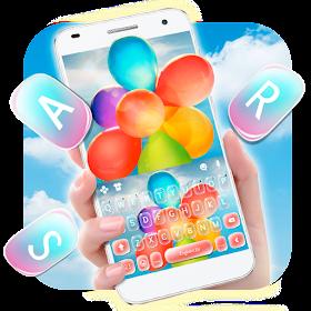 тема для клавиатуры Colorful Float Balloon