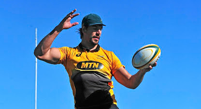 Up where we belong: Eben Etzebeth is ready to return to international rugby against Argentina on Saturday after nine months out with a shoulder injury. Picture: RYAN WILKISKY/ BACKPAGEPIX