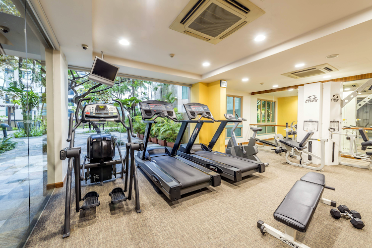 Gym at Orchard Road apartment