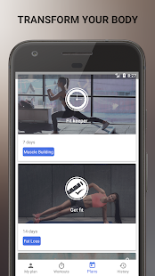 Home Workouts, Training plans and Progress tracker - náhled