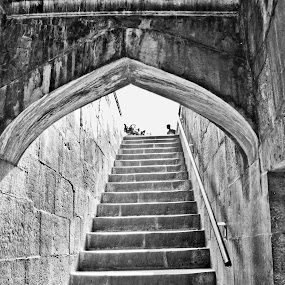 by Sudipto Ghosh - Buildings & Architecture Other Interior ( stares, black and white, old building )
