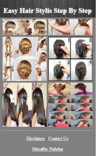 Snadné vlasové styly krok za - náhled