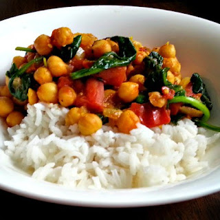 Chickpea, Tomato & Spinach Curry