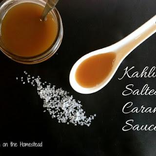 Kahlua Salted Caramel Sauce.