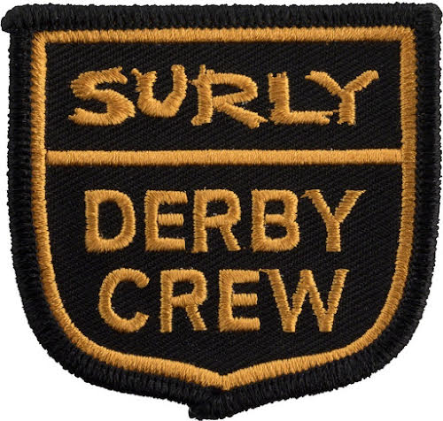 Surly Derby Crew Patch: Yellow/Blac