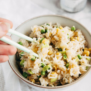 """Vegan """"Egg"""" Fried Rice."""