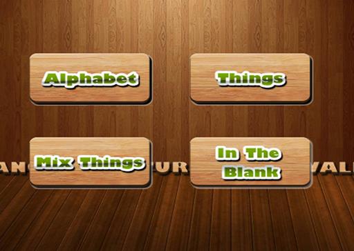 Alphabet Vocabulary