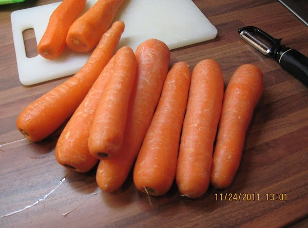 This is 2 pounds of carrots!  They were super fat!