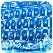 Blue Water keyboard- Animated Themes