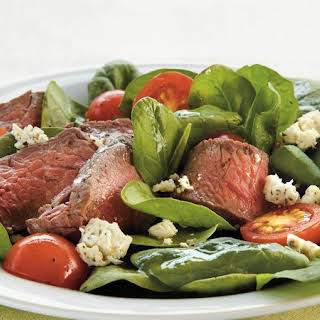 Steak and Feta Spinach Salad.