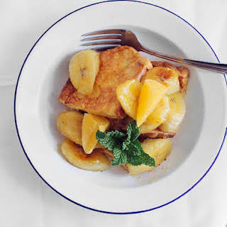 French Toasts With Caramelised Bananas.