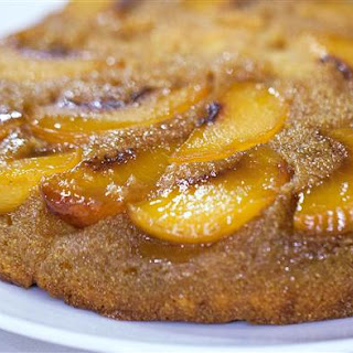Cornbread Peach Upside Down Cake