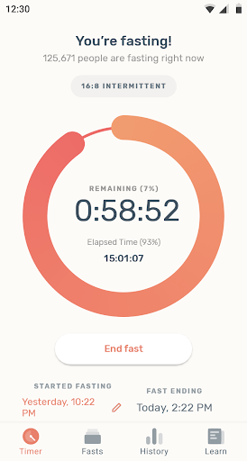Zero - Fasting Tracker screenshot 1