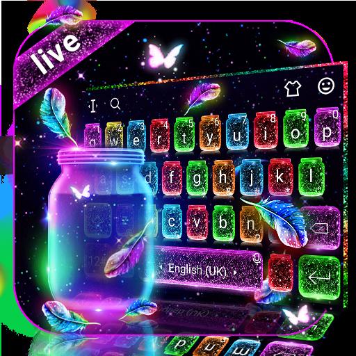 Lovely Live Glitter Bottle Keyboard