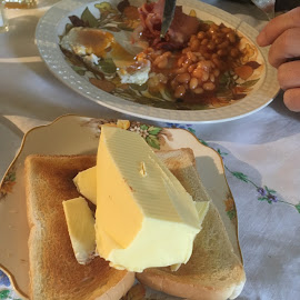 Butter anyone? by Dawn Simpson - Food & Drink Plated Food ( toast, butter, unhealthy, breakfast, dairy )