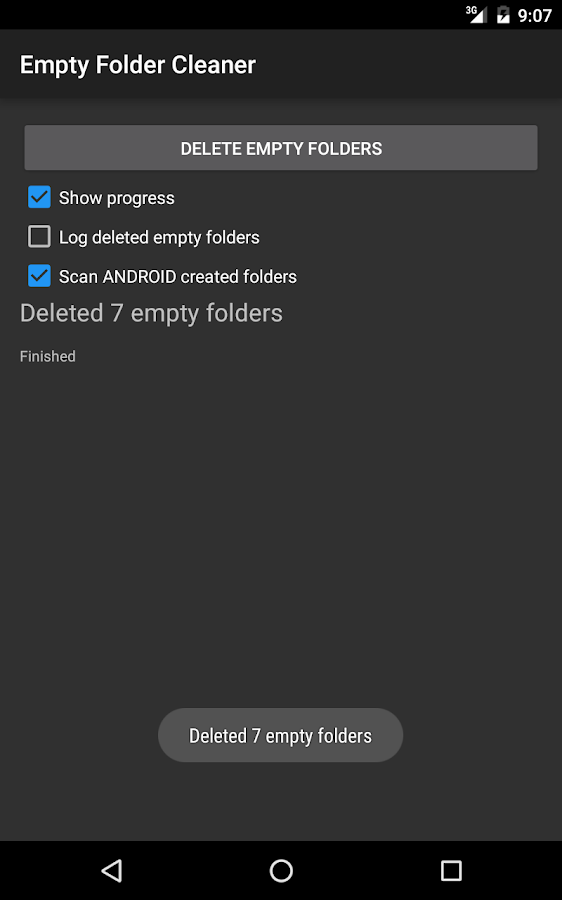 Empty Folder Cleaner- screenshot