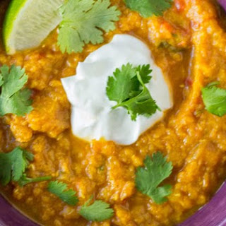 Slow Cooker Indian Butternut Squash and Red Lentil Curry