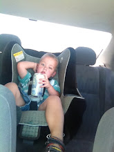 Photo: On the way to Walmart! Eli wanted to hold my soda for me. I think he sneaked a couple of sips on the way over ;)