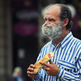 Popeye's Breakfast by Boris Bajcetic - People Portraits of Men