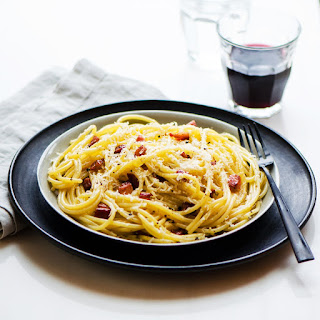 Pasta Carbonara Pancetta Egg Yolks Recipes