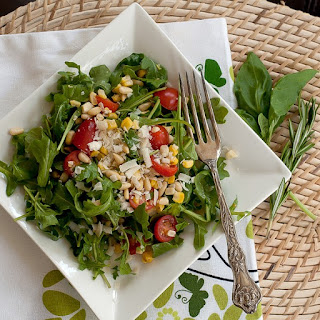 Arugula, Tomato and Corn Salad