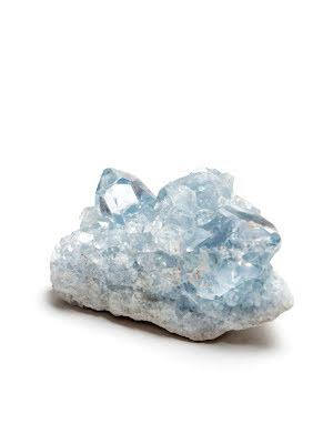 Celestin, celestit, kluster med naturliga kristaller
