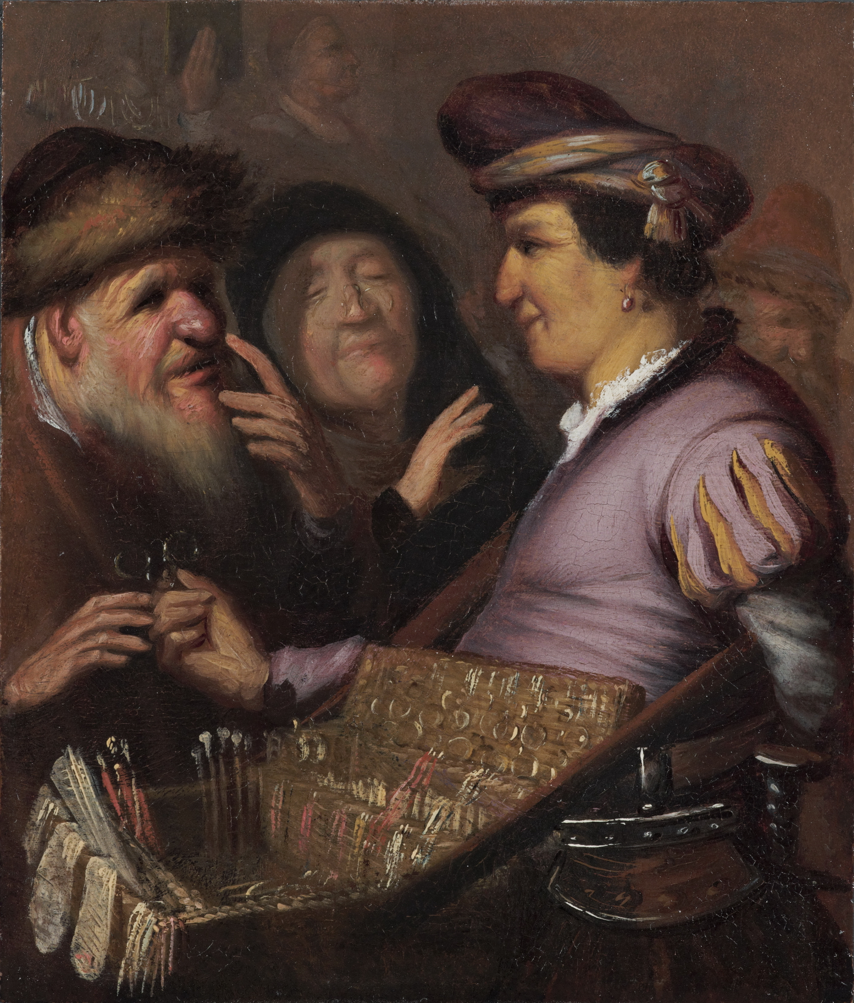 A PEDDLER SELLING SPECTACLES