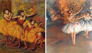 """Photo: Alguns dos quadros de Degas que influenciaram Leone e seu diretor de fotografia, Tonino Delli Colli, na iluminação da cena de introdução de Jennifer Conelly em """"Era Uma Vez na América""""."""