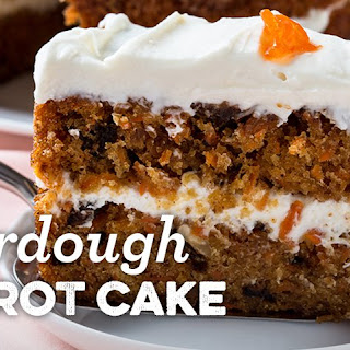 Sourdough Carrot Cake with Cream Cheese Frosting.