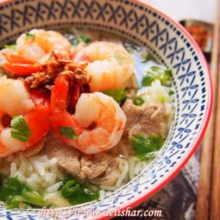 Thai Rice Soup (Khao Tom Goong Moo)