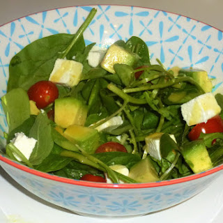 Feta, Avocado and Rocket Salad with Lemon Dressing