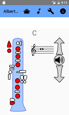 Clarinet Fingering Chart - screenshot