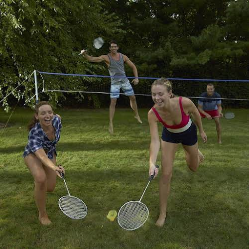 6. Badminton and Volleyball  Looking for more active lawn games to play?...